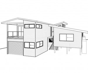 Beach House Renovation Front Elevation