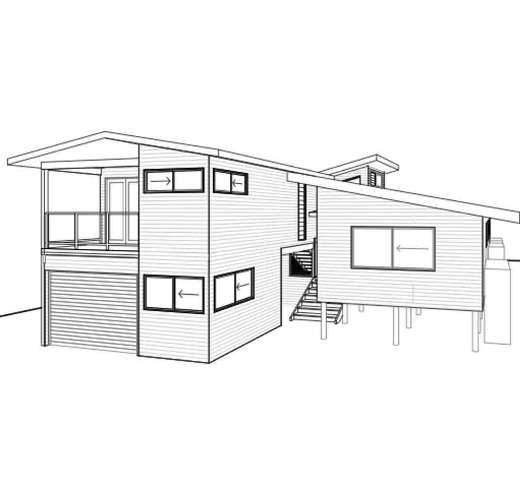 Front Elevation Renovations : Beach house renovation south golden