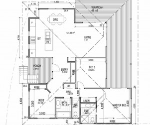 Ocean Shores residence floor plan